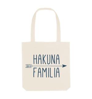 Einkaufstasche Hakuna Familia - Cremeweiss
