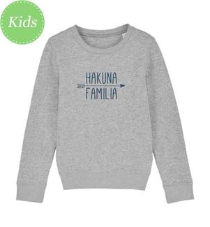 Sweatshirt Hakuna Familia - Grau