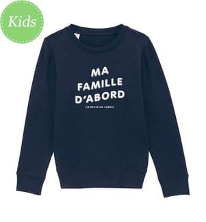 Sweatshirt Ma Famille D'Abord (Le Reste On Verra) - Marinblau
