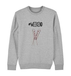 Sweatshirt Week End - Grau