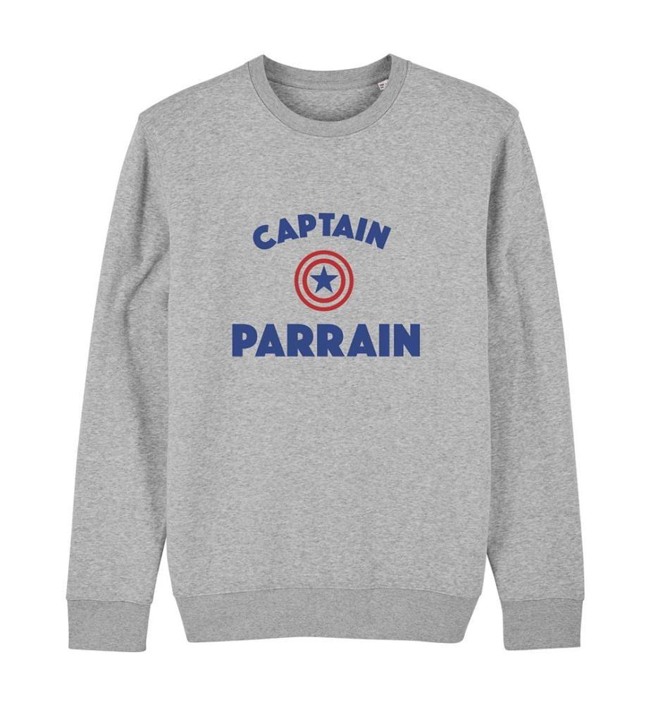 Sweatshirt Captain Parrain - Grau