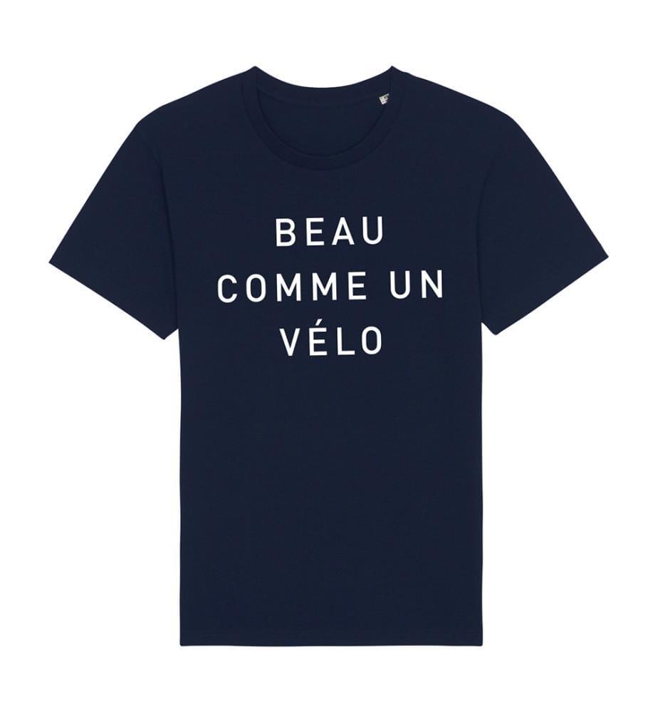 T-Shirt Beau Comme un Vélo - Marinblau