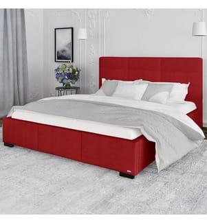 Bettgestell mit Staukasten Poesy 198 x 223 x 106 cm (geeignet für eine Matratze von180 x 200 cm) - Rot