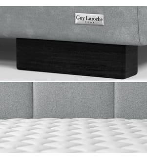 Bettgestell mit Bettrost Allure 198 x 216 x 106 cm (geeignet für eine Matratze von180 x 200 cm) - Grau