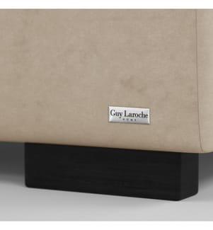 Bettgestell mit Bettrost Poesy 158 x 213 x 106 cm (geeignet für eine Matratze von140 x 190 cm) - beige
