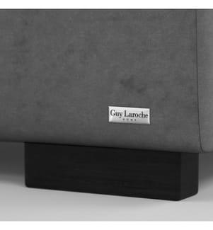 Bettgestell mit Bettrost Poesy 158 x 213 x 106 cm (geeignet für eine Matratze von140 x 190 cm) - Grau