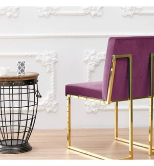 Stuhl Lima - Violett und Gold