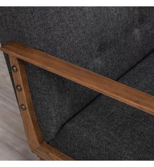 Sessel Kemer - Grau und Braun