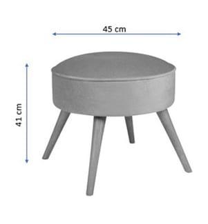 Sitzpouf Boyce - 45 x 45 x 41 cm - Fuchsia