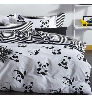 3-Teilige Bettwäschegarnitur Panda - 260 x 220 cm