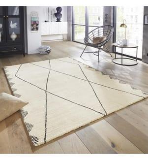 ELLE DECORATION - Teppich Glow - Cremeweiss - Grau - 200x290 cm