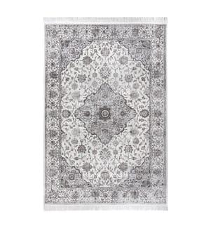 ELLE DECORATION - Teppich Ghazni - Grau Cremeweiss - 135x195 cm