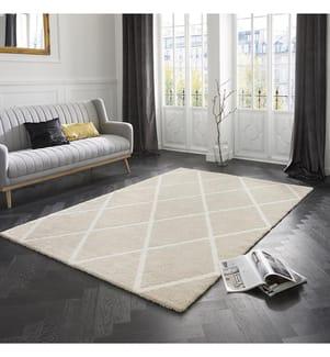 ELLE DECORATION - Teppich Maniac - Beige - Cremeweiss - 80x150 cm