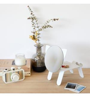 BALVI - Tischspiegel, Katze, Weiss, Metall