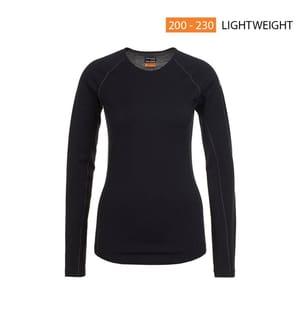 T-Shirt BodyfitZone™ Merino 200 - Schwarz