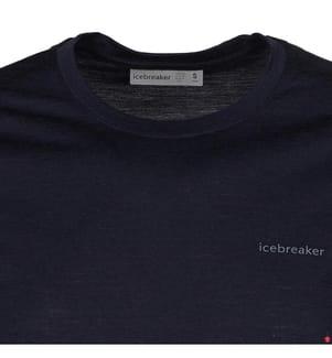 T-Shirt Merino Tech Lite Wordmark - Marinblau