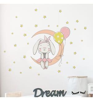 Wandsticker - Rabbit - Gesamtmass: 40 x 35 cm