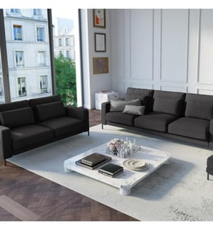 2-Sitzer Sofa Seine - Dunkelgrau