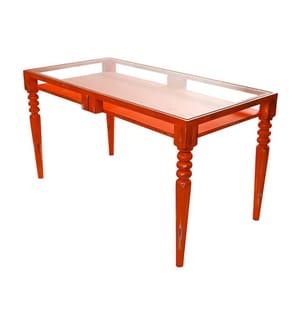 Tisch Brottby - Rot und Transparent