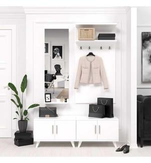 Dielenständer Elegance - Weiss