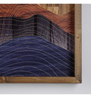 Dekorative gerahmte MDF-Malerei Evila Originals - Multicolor