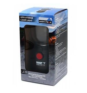 HIGH PEAK - LED-Camping-Lampe 180 x 80 x 80 mm - Schwarz