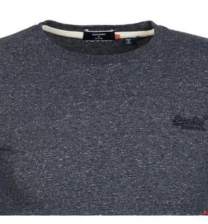 Langarmshirt OL Vintage Embroidered - Marinblau