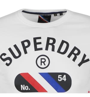 Langarmshirt SuperDry - Weiss
