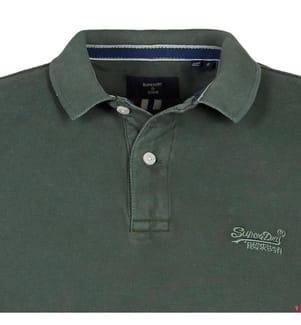 Poloshirt Classic Vintage Destroy - Grün