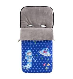 Kinderwagen-Schlafsack My Space - Dunkelblau und Grau