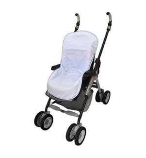 Kinderwagen-Schonunterlage - Blau und Weiss