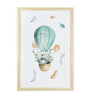 Gerahmtes Bild Explorer Rabbit - 60 x 40 cm