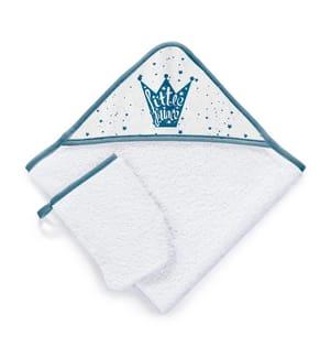 Badetuch & Waschhandschuh Little Prince - Weiss und Blau