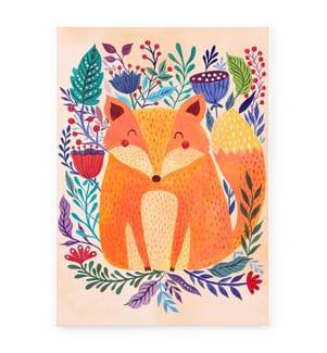 Leinwandbild Fox Forest - Multicolor