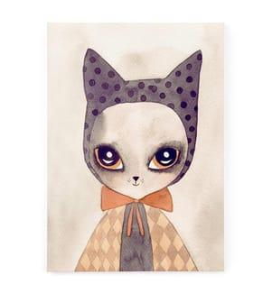 Leinwandbild Watercolor Cat - 70 x 50 cm