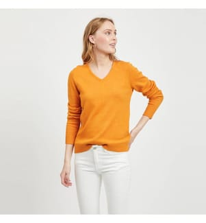 VILA CLOTHES - Pullover Viril - Orange