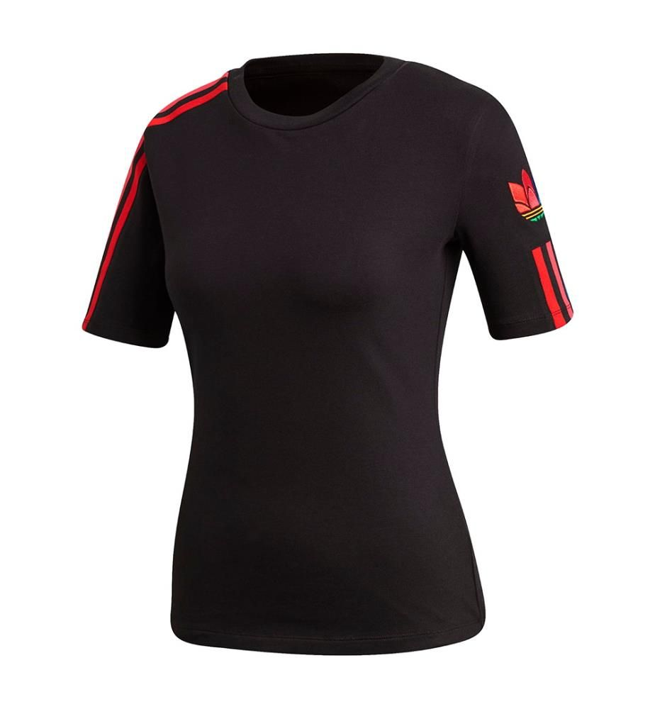 ADIDAS - T-Shirt Adicolor 3D Trefoil - Schwarz