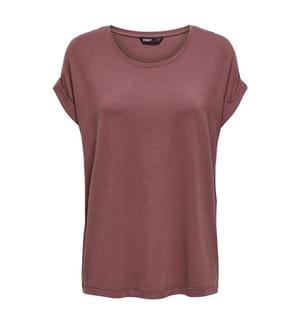 ONLY - T-Shirt - Dunkelrosa