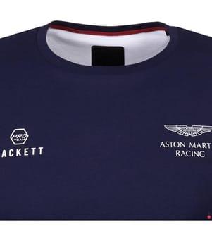 HACKETT - T-Shirt Aston Martin Racing - Marinblau und Rot