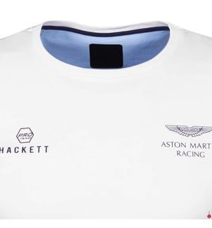 HACKETT - T-Shirt Aston Martin Racing - Weiss und Marinblau