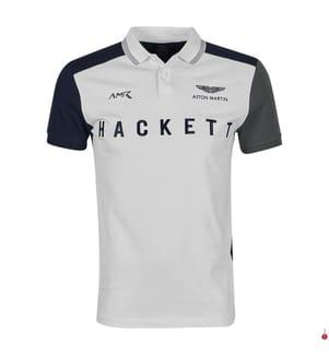 HACKETT - Poloshirt Colour Block Logo - Weiss
