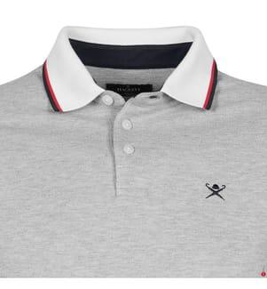 HACKETT - Poloshirt - Grau und Weiss