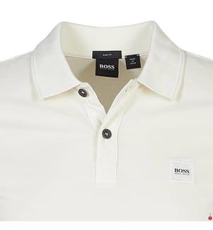 Poloshirt Slim Fit - Cremeweiss