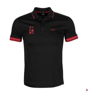 Poloshirt Paule Tokyo Slim Fit - Schwarz und Rot