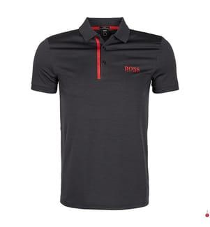 Poloshirt Slim Fit - Schwarz und Rot