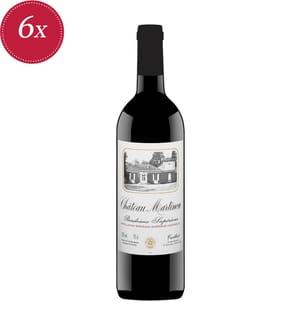 6x Château Martinon Rouge Bordeaux Supérieur 2018