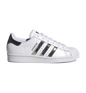 ADIDAS - Superstar Shoes - Cloud White / Silver Metallic / Core Black
