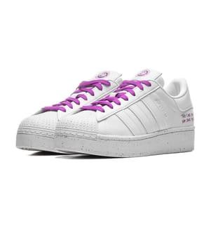 ADIDAS - Superstar Bold Shoes - Cloud White / Cloud White / Shock Purple
