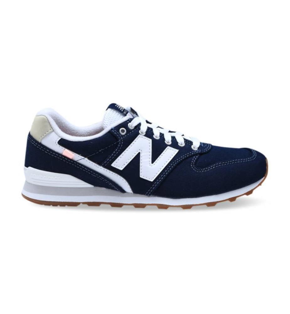 NEW BALANCE - Leder-Sneakers 996 - Marinblau