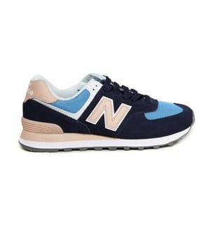 NEW BALANCE - Sneakers 574 - Marinblau und Beige